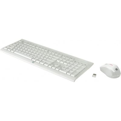 Klaviatuur+hiir HP M7P30AA C2710 Combo Keyboard White/valge EST, Wireless Mouse, USB nano receiver