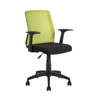 Töötool ALPHA käetugedega, võrkseljatugi 21142, /max 120kg/roheline võrkseljatugi+must iste+ must jalarist