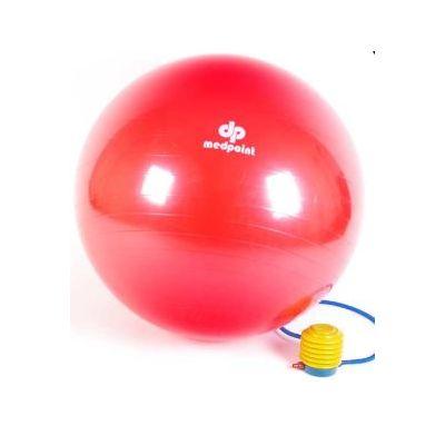 Istumispall/Võimlemispall D-85cm Pumbaga / punane, kasutaja kasvule 175-190cm, max 120kg