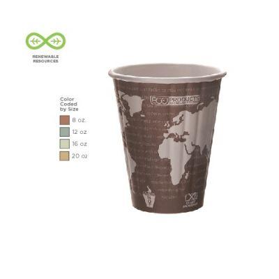 Kohvitops WA tugevdatud komposteeritav 235ml (8oz) 40tk/pk