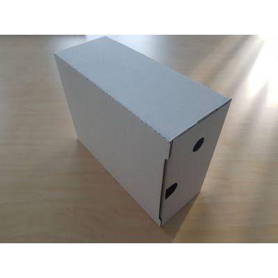 Arhiivikarp A4 12cm  valge 235x120x315mm pinnalaotusena, lühemast küljest avatav