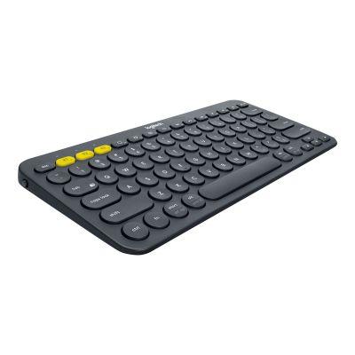 Klaviatuur Logitech K380 Bluetooth keyboard RUS, Black (must), 28x12.5x1.6cm, 2xAAA patareid, 2YW