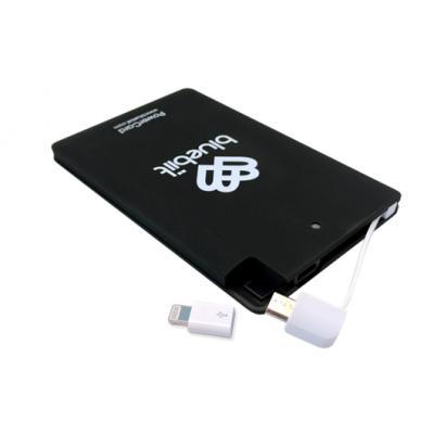 Akupank Bluebiit PowerCard 2500mAh Portable Black/must (microUSB + Lightning adapter)