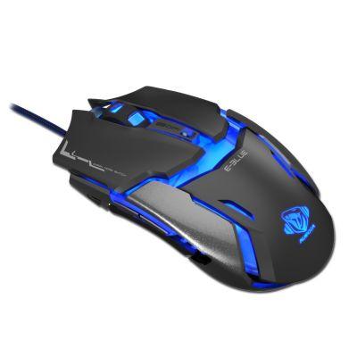 Hiir e-blue Auroza Type IM EMS602, optiline, must, RGB-valgus, 5000dpi