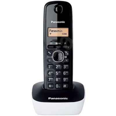 Telefon Panasonic KX-TG1611FXW must/valge - DECT, numbrinäit, EST menüü