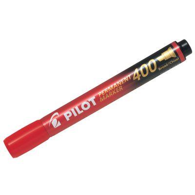 Marker permanent Pilot 400 - FINE 4 mm lõigatud otsaga - punane