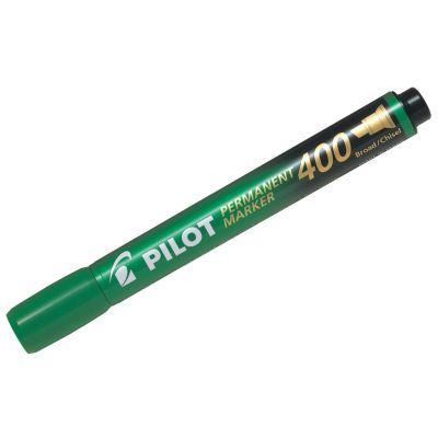 Marker permanent Pilot 400 - FINE 4 mm lõigatud otsaga - roheline