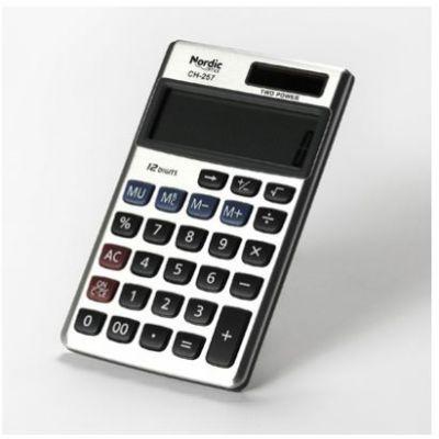 Taskukalkulaator Nordic Office CH-257, 12-kohaline ekraan, pehmed kaaned