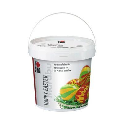 Marmoriseerimisvärv 3x15ml+5muna+5puupulka+muru dekoreerimiseks