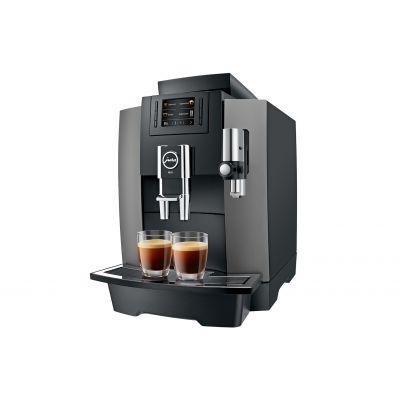 Espressomasin Jura Impressa WE8 dark inox, veepaak 3L, oamahuti 500gr, kohvipaksusahtel 25 portsjonile, kuni 30 kohvi päevas
