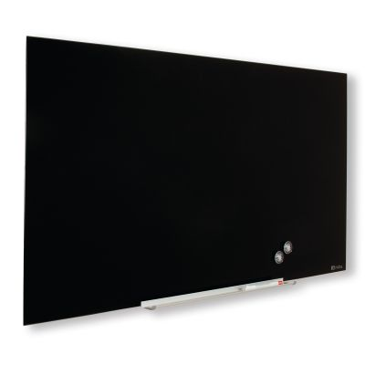 "Klaastahvel NOBO Diamond Magnetic Widescreen Glass Black 45"" 1000x560mm must, kaasas marker, 2 klaastahvlimagnetit"