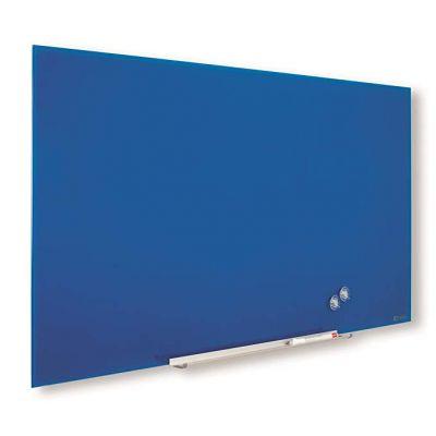 """Klaastahvel NOBO Diamond Magnetic Widescreen Glass Blue 57""""1260x710mm sinine, kaasas marker, 2 klaastahvlimagnetit"""