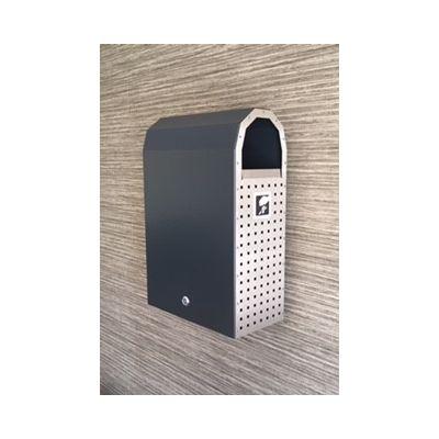 Prügikast Z 30 L, värvitud, roostevaba küljed, seinale või postile kinnitatav, lukustatav