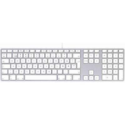 Klaviatuur LMP WKB-1243 Aluminium SWE (skandinaavia asetus), USB-kaabel, 2xUSB-hub, Mac OS X 10.5 või hilisem