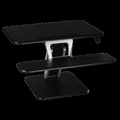 Ergonoomiline töökoht Hama Sit-Stand Desk M, black, kõrgus reg 18-43cm, 80x52x18cm, max 15kg