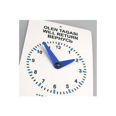 """Pausikell 3 keelne """"OLEN TAGASI"""" sinised seierid 100x135 / koos iminapaga eesti-vene-inglise"""