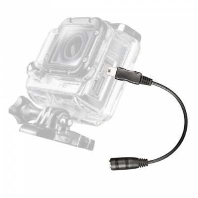Adapterkaabel üleminek Mantona Mikrophon Adapter for GoPro Hero 3/4 - 3,5mm pesa (F) - miniUSB2.0-B pistik (M)