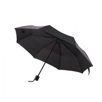 Vihmavari Wenger 90cm 6seg mini telescopic, black, 24cm x 4cm, pehme ümbris, must, avatuna diam 1m