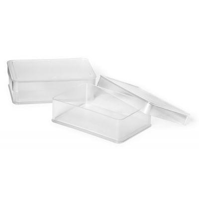 Kriidikarp kaanega, 120 x 80 x 35 mm, läbipaistev löögikindel plast