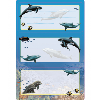 Vihikukleebis Delfiinid , sädelusega, Vario