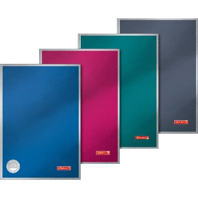 Kontoriraamat A4 96 l. jooneline, raamatköide, kõvakaaneline, Premium Metallic, Brunnen