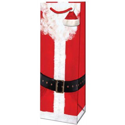 Kinkekott pudelile Jõuluaeg/Jõulumees 12,6x8,9x36