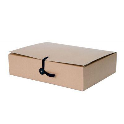 Arhiivikarp/arhiivikaaned A4 pael+nööp kinnitusega. laius 10cm, kartong 650gsm,pruun, SMLT