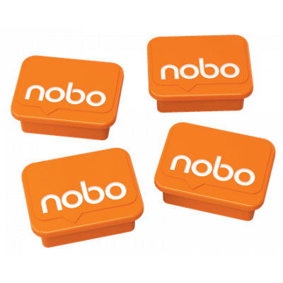 Nobo Magnets Orange 18x22mm
