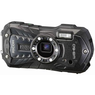Digikaamera Ricoh WG-60 must, Seiklus- ja ilmastikukindel korpus, 5x opt suum, 16MPix, FHD video