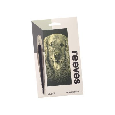 Kraapeplaat Reeves 18x11cm Gold Dog