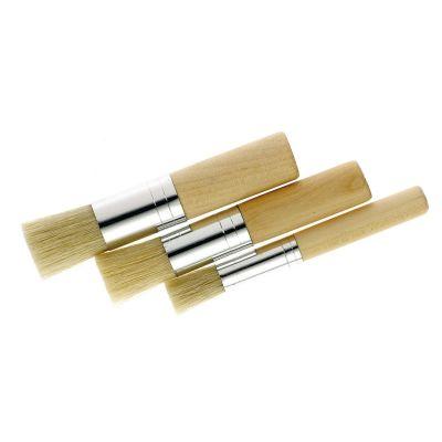 Shabloonipintsel, 8, 15 ja 20 mm, kokku 6 tk, seaharjas