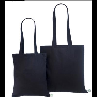 Orgaanilisest puuvillasest riidest kott40x40cm must 140g/m3