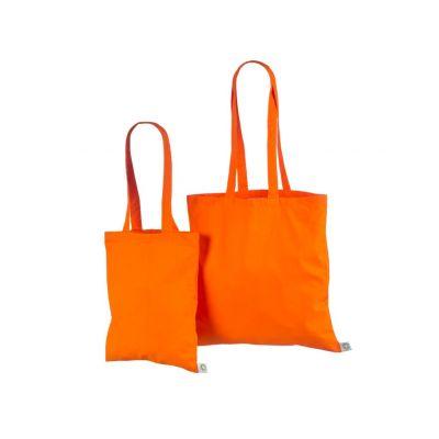 Orgaanilisest puuvillasest riidest kott40x40cm oranz 140g/m3