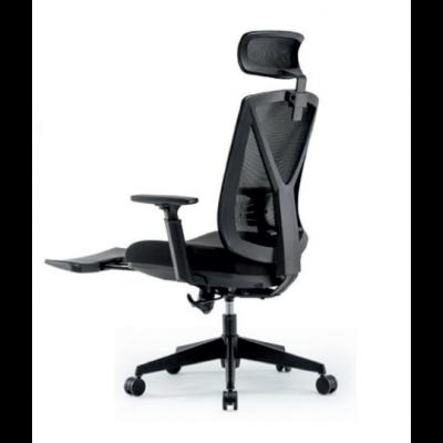 Töötool RELAX RC-3003E Jalatoe ja peatoega, must võrkseljatugi, 3D käetoed/ must kangas+must nailon jalarist, D60 plastikrattad