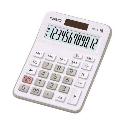 Lauakalkulaator Casio MX-12B valge 12-kohaline, tava- ja päikesepatarei, Standardloogika