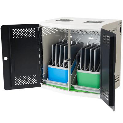 Tahvelarvutite laadimiskapp seinale või lauale LocknCharge iQ10 mahutab 10 tahvelarvutit, võtmega suletav, kaks eemaldatavat mahutit 5-le