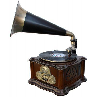 Muusikakeskus Soundmaster NR917 Nostalgic Centre - Grammofon plaadimängija,FM-raadio,CD,kassett,USB,SD,Bluetooth, MP3 enkooder