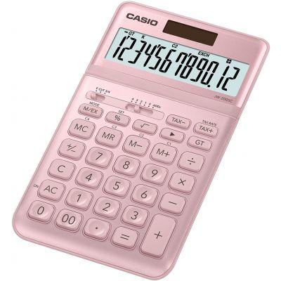 Lauakalkulaator Casio JW-200SC-PK Pink(roosa) metall 12-kohaline, tava- ja päikesepatarei, 184x109x11mm, Casio loogika, LR1130