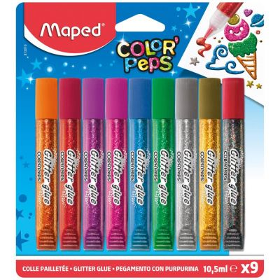 Glitter liim 9*10,5ml, Maped