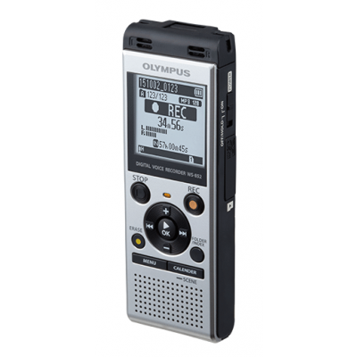 Digidiktofon Olympus WS-852 silver 4GB 1,43`LCD microSDHC, MP3 2xAAA patareid, 2YW, USB-laadimine