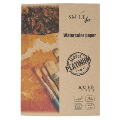 Akvarellpaber A4 220g/m2, 20lehte/kmpl , Platinum SMLT