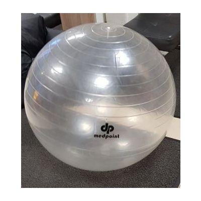 Istumispall/Võimlemispall D-75cm Pumbaga/ läbipaistev, kasutaja kasvule 165-175cm, max 120kg