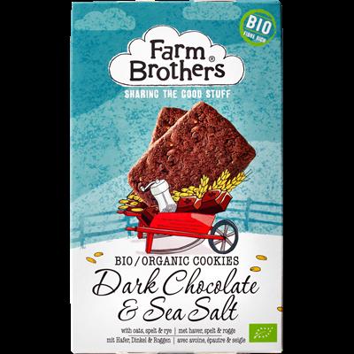 Küpsised Farm Brothers  ÖKO tumeda shokolaadi ja meresoolaga  150g