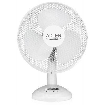 Ventilaator lauale 30cm AD7303 - 3 kiirust, 70W, kallutatav 26-kraadi, horisontaalselt pöörlev, valge, õhuhulk 30m3/min
