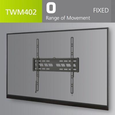 """Seinakinnitus LCD ekraanile, kuni 55"""" kuni 50 kg, VESA kuni 400 x 400, sisseehitatud vesilood"""