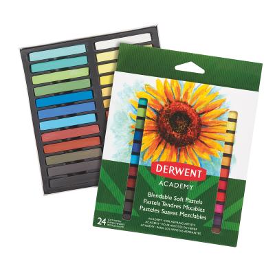 Pehmed pastellid Derwent Academy 24 värvi