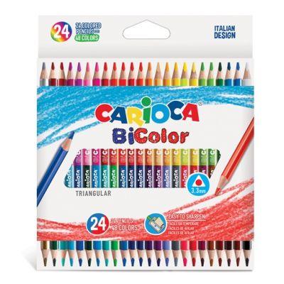 Värvipliiatsid Carioca BiColor 24tk=48värvi, kolmnurksed
