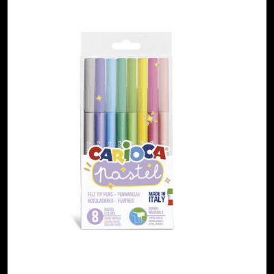 Viltpliiatsid Carioca Pastel 8 värvi