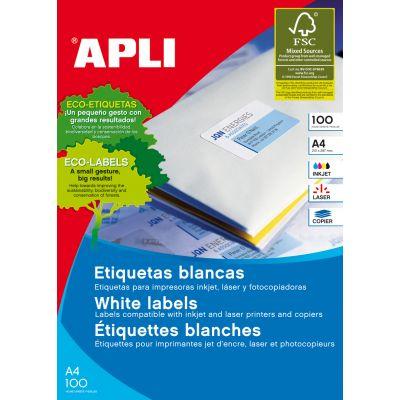 Etikett APLI 105x37 Ref.12978 punane 100l/pk , eritel