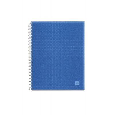 Märkmik A7 100l.  5x5 ruut spiraal 4-värv register, läb.sinine PP-kaanega ASTRAL BLUE CANDY MIQUELRIUS
